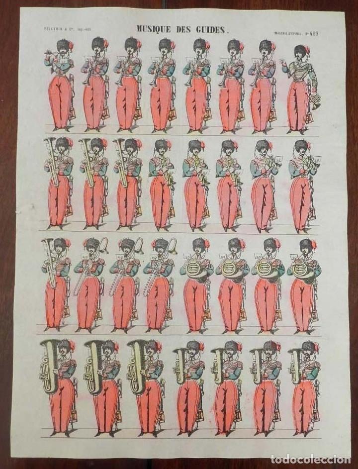 ANTIGUO RECORTABLE MUSIQUE DES GUIDES, IMAGERIE PELLERIN, IMAGERIE D´EPINAL, N. 463. AÑOS 1910. APRO (Coleccionismo - Recortables - Soldados)