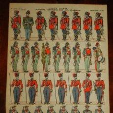 Coleccionismo Recortables: ANTIGUO RECORTABLE TYPES DIVERS DE LA GARDE, PELLERIN & CIE, IMAGERIE D´EPINAL N. 662, AÑOS 1910. AP. Lote 175917510