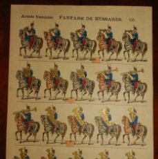 Coleccionismo Recortables: ANTIGUO RECORTABLE ARMEE FRANCAISE, FANFARE DE HUSSARDS, PELLERIN & CIE, LIBRAIRES D´EPINAL N. 691, . Lote 175917657