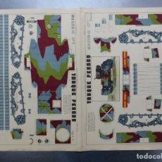 Coleccionismo Recortables: TANQUE PESADO - AÑOS 1940 - LIT. M. PORTABELLA, ZARAGOZA - 2 HOJAS. Lote 176147760