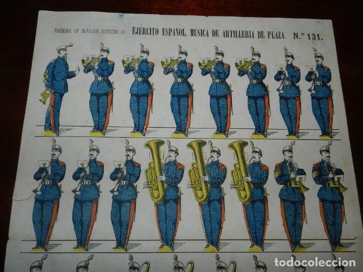 Coleccionismo Recortables: RECORTABLE PALUZIE, EJERCITO ESPAÑOL, MUSICA DE ARTILLERIA, Nº 131 LIT. DE HIJOS DE PALUZIE DIPUTACI - Foto 2 - 176155263
