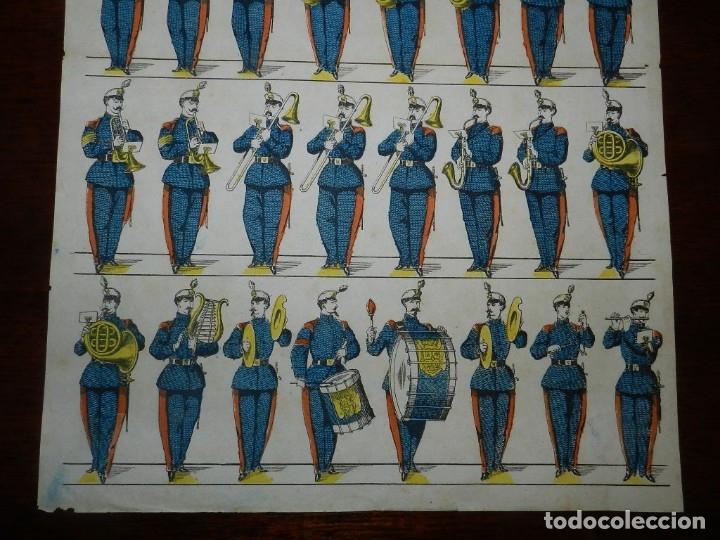 Coleccionismo Recortables: RECORTABLE PALUZIE, EJERCITO ESPAÑOL, MUSICA DE ARTILLERIA, Nº 131 LIT. DE HIJOS DE PALUZIE DIPUTACI - Foto 3 - 176155263