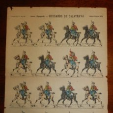 Coleccionismo Recortables: RECORTABLE HUSSARDS DE CALATRAVA, PELLERIN & CIA. IMAGERIE D´EPINAL. Nº603. HUSAR DE CALATRAVA. MIDE. Lote 176158385