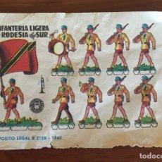 Coleccionismo Recortables: 3 RECORTABLES DE 1960 UNIDAD DE COMANDOS EEUU Y INFANTERIA LIGERA RODESIA DEL SUR. Lote 176268957
