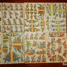 Coleccionismo Recortables: LOTE DE 10 RECORTABLES, ILUSTRADOR RIBAS, MIDE CADA UNO 15,5 X 11 CMS. APROXIMADAMENTE, E. Lote 176599415