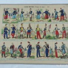 Coleccionismo Recortables: RECORTABLE GALERIE MILITARE (TROUPES DE LIGNE), ALBUM DE L´ARMME FRANCAISE, MALAKOFF, PL.2, N.33, LI. Lote 176718325