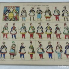 Coleccionismo Recortables: RECORTABLE LES CANTINIERES DE L´ARMEE FRANCAISE. LITH. PELLERIN A EPINAL, PAPER CUT SOLDIER, COUPE D. Lote 176718977