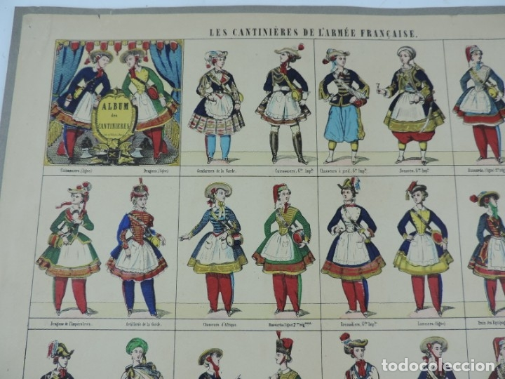 Coleccionismo Recortables: RECORTABLE LES CANTINIERES DE L´ARMEE FRANCAISE. LITH. PELLERIN A EPINAL, PAPER CUT SOLDIER, COUPE D - Foto 2 - 176718977