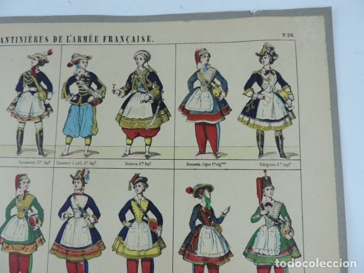 Coleccionismo Recortables: RECORTABLE LES CANTINIERES DE L´ARMEE FRANCAISE. LITH. PELLERIN A EPINAL, PAPER CUT SOLDIER, COUPE D - Foto 3 - 176718977