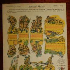 Coleccionismo Recortables: RECORTABLE LA TIJERA, SERIE 5, SANIDAD MILITAR, Nº 6, MIDE 22,5 X 16 CMS.. Lote 177232137
