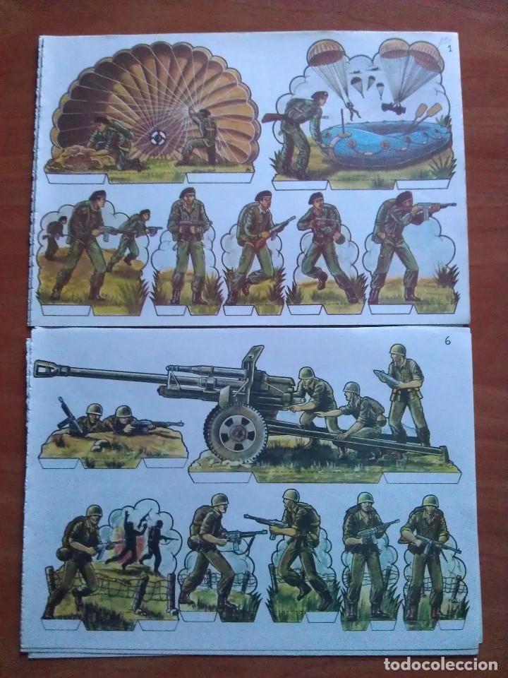 RECORTABLES SOLDADOS : DIEZ LÁMINAS SOLDADOS EN ACCIÓN - COMPLETA (Coleccionismo - Recortables - Soldados)