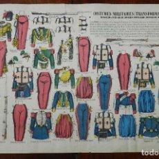 Coleccionismo Recortables: ANTIGUO RECORTABLE DE UNIFORMES MILITARES, CAZADORES, DRAGNES, ARTILLEROS, GRANADEROS, ZOUAVES, Nº 8. Lote 177369240