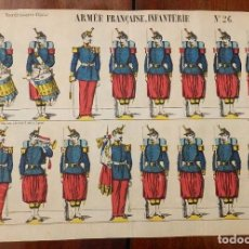 Coleccionismo Recortables: ANTIGUO RECORTABLE EPINAL, ARMEE FRANCAISE, INFANTERIE Nº 26, NOUVELLE IMAGERIE D´EPINAL, IMPR. LITH. Lote 177379543
