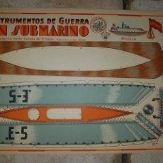 Coleccionismo Recortables: (M.C) RECORTABLES GUERRA CIVIL - C. COSTALES, J.GALVEZ, GRANADA -SUBMARINO- INST- DE GUERRA AÑOS 40. Lote 177552589