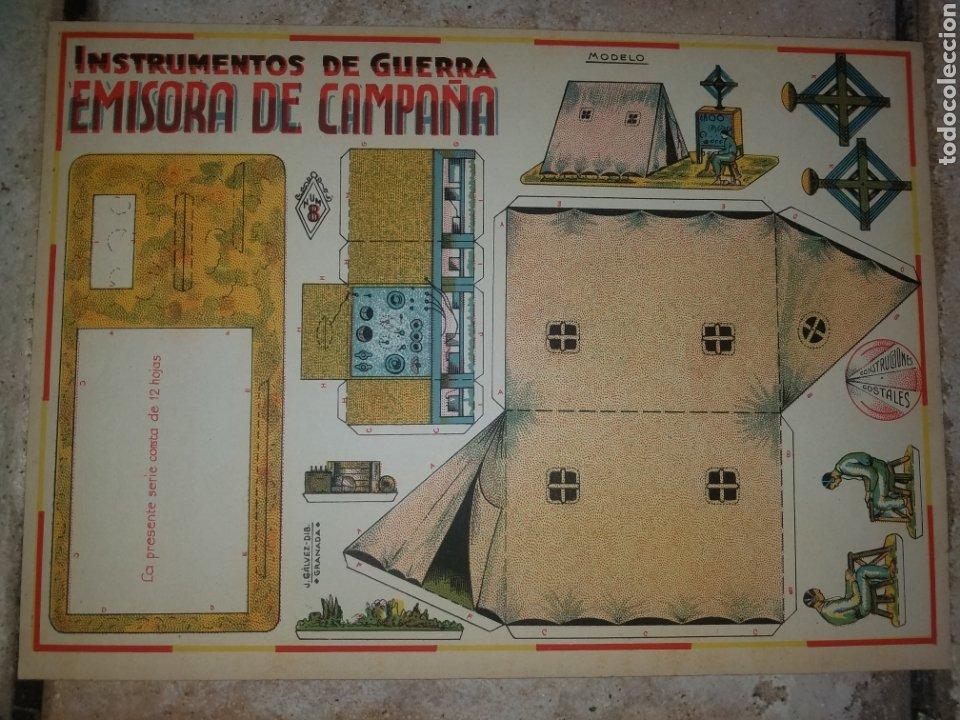 (M.C) RECORTABLES GUERRA CIVIL - C. COSTALES, J.GALVEZ, GRANADA -EMISORA - INST- DE GUERRA AÑOS 40 (Coleccionismo - Recortables - Soldados)