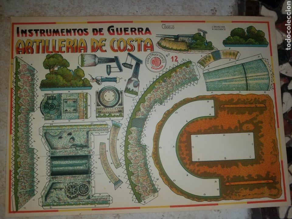 (M.C) RECORTABLES GUERRA CIVIL - C. COSTALES, J.GALVEZ, GRANADA -ARTILLERI - INST- DE GUERRA AÑOS 40 (Coleccionismo - Recortables - Soldados)