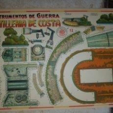 Coleccionismo Recortables: (M.C) RECORTABLES GUERRA CIVIL - C. COSTALES, J.GALVEZ, GRANADA -ARTILLERI - INST- DE GUERRA AÑOS 40. Lote 177553244