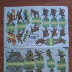 Coleccionismo Recortables: TRES RECORTABLES SOLDADOS : DOS INFANTERIA ESPAÑOLA Y UNO DE LA LEGIÓN - EL SOLDADO. Lote 222854383