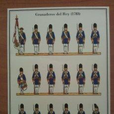 Coleccionismo Recortables: RECORTABLE GRANADEROS DEL REY (1783). Lote 177859113