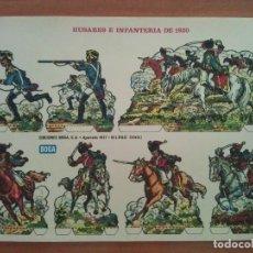 Coleccionismo Recortables: RECORTABLE : HUSARES E INFANTERIA DE 1820, EDICIONES BOGA, BILBAO. Lote 177860038