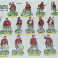 Coleccionismo Recortables: REGIMIENTO DE HIGHLANDERS INGLATERRA 1758. Lote 178023102