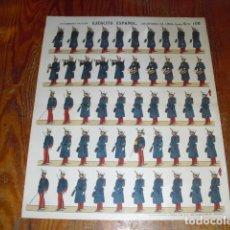 Coleccionismo Recortables: RECORTABLE STAMPERIA PALUZÍE - EJÉRCITO ESPAÑOL INFANTERIA DE LINEA SERIE B Nº 106. Lote 178135349