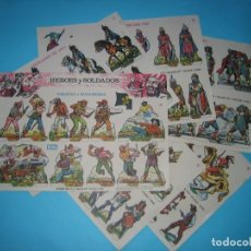 Coleccionismo Recortables: RECORTABLE EDICIONES BOGA - HEROES Y SOLDADOS - 6 LAMINAS A - C - D - E - G Y H - 31 X 21 CM - VER. Lote 178609601