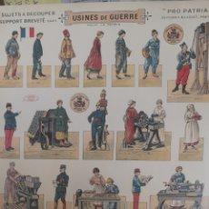 Coleccionismo Recortables: RECORTABLES A DOS CARAS DEL EJÉRCITO FRANCÉS. Lote 178935910