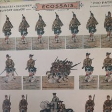 Coleccionismo Recortables: RECORTABLES A DOS CARAS DE SOLDADOS DE LA ARMADA INGLESA. Lote 178936661