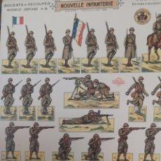 Coleccionismo Recortables: RECORTABLES A DOS CARAS DE SOLDADOS DEL EJÉRCITO FRANCES DE 1939. Lote 178936935