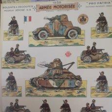 Coleccionismo Recortables: RECORTABLES A DOS CARAS DEL ARMA MOTORIZADA DE FRANCIA 1939. Lote 178937148