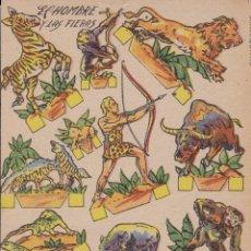 Coleccionismo Recortables: EL HOMBRE Y LAS FIERAS. Lote 180014382
