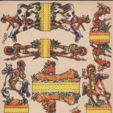 Coleccionismo Recortables: RECORTABLES PIELES ROJAS AÑO 1960. Lote 180014615