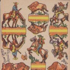 Coleccionismo Recortables: RECORTABLES COW BOYS Y BISONTES AÑO 1960. Lote 180016412