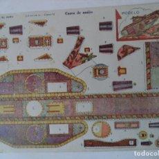 Coleccionismo Recortables: CONSTRUCCIONES EL NIÑO COLECCION Nº 10 Nº 94 CARRO DE ASALTO 34X24 CM. Lote 180455715