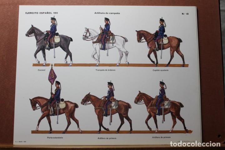 Coleccionismo Recortables: RECORTABLES , EJÉRCITO ESPAÑOL 1910 ARTILLERÍA DE CAMPAÑA - Foto 2 - 181085636