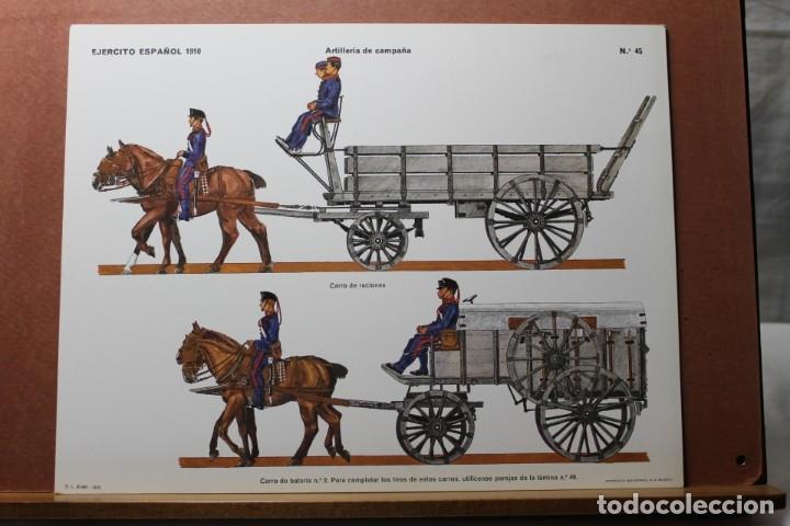 Coleccionismo Recortables: RECORTABLES , EJÉRCITO ESPAÑOL 1910 ARTILLERÍA DE CAMPAÑA - Foto 4 - 181085636