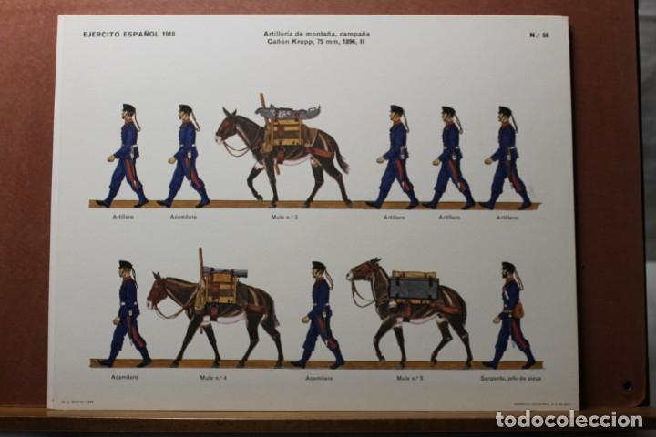 Coleccionismo Recortables: RECORTABLES, EJÉRCITO ESPAÑOL 1910, ARTILLERÍA DE MONTAÑA - Foto 2 - 181086566