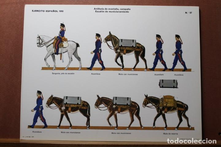 Coleccionismo Recortables: RECORTABLES, EJÉRCITO ESPAÑOL 1910, ARTILLERÍA DE MONTAÑA - Foto 3 - 181086566