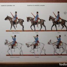 Coleccionismo Recortables: RECORTABLES, EJÉRCITO ESPAÑOL 1910, CAZADORES DE CABALLERÍA. Lote 181086822