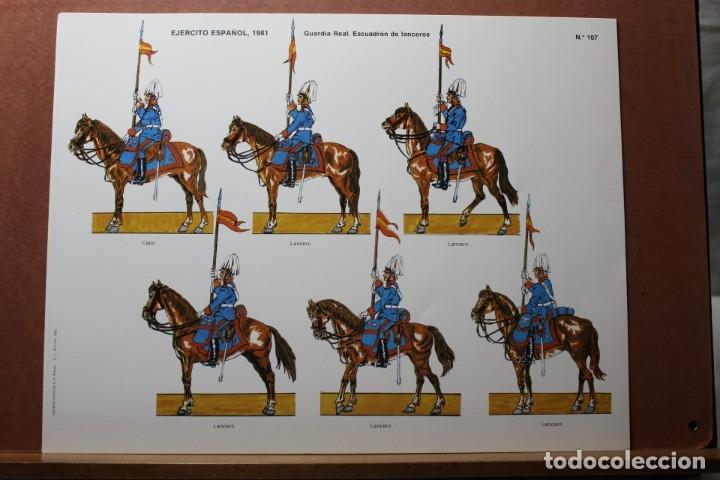 RECORTABLES EJÉRCITO ESPAÑOL 1979-81, GUARDIA REAL (Coleccionismo - Recortables - Soldados)