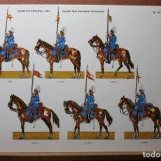 Coleccionismo Recortables: RECORTABLES EJÉRCITO ESPAÑOL 1979-81, GUARDIA REAL. Lote 181087363