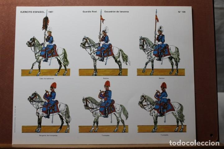 Coleccionismo Recortables: RECORTABLES EJÉRCITO ESPAÑOL 1979-81, GUARDIA REAL - Foto 2 - 181087363