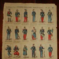 Coleccionismo Recortables: ANTIGUO RECORTABLE Nº 64 UNIFORMES D´INFANERIE (ARMEE FRANCAISE), NOUVELLE IMAGERIE D´EPINAL, MIDE . Lote 182463575
