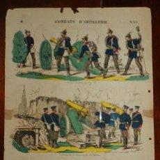 Coleccionismo Recortables: ANTIGUO RECORTABLE Nº 33 COMBATS D´ ARTILLERIE, IMP. LITH. PNOT & SAGAIRE EDIT. A EPINAL, MIDE 39 X. Lote 182464092