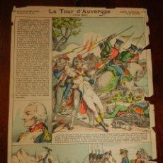 Coleccionismo Recortables: ANTIGUA LAMINA Nº 23 LA TOUR D´AUVERGNE, SERIE SUPERIEURE AUX ARMES D´EPINAL, GLOIRES NATIONALES, M. Lote 182464531