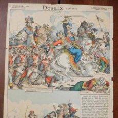 Coleccionismo Recortables: ANTIGUA LAMINA Nº 22 DESAIX (1768 - 1800), SERIE SUPERIEURE AUX ARMES D´EPINAL, GLOIRES NATIONALES,. Lote 182464768