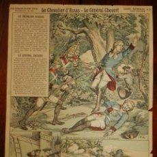 Coleccionismo Recortables: ANTIGUA LAMINA Nº 18 LE CHEVALIER D´ASSAS, LE GENERAL CHEVERT, SERIE SUPERIEURE AUX ARMES D´EPINAL,. Lote 182464953