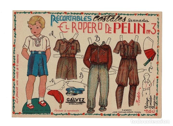 EL ROPERO DE PEPIN, Nº 3. UNIFORMES,PELAYO, AVIADOR, Y REGULAR, MIDE,32 X 23 C.M. (Coleccionismo - Recortables - Soldados)
