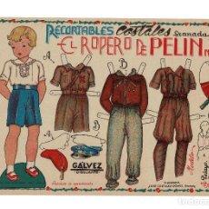 Coleccionismo Recortables: EL ROPERO DE PEPIN, Nº 3. UNIFORMES,PELAYO, AVIADOR, Y REGULAR, MIDE,32 X 23 C.M.. Lote 182828313